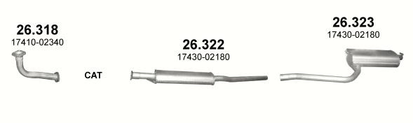 26.318 (INOX) + 26.322 + 26.323