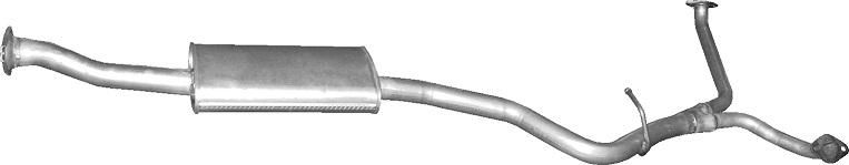 Auspuff für Subaru Legacy 2.0 2.5 16V 4x4 3.0 16V 98-2003 Mittelschalldämpfer A4