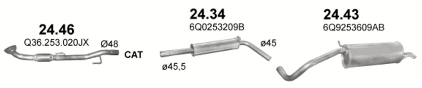 24.46 (inox) + 24.34 + 24.43